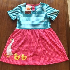 Girl's Appliqué Dress